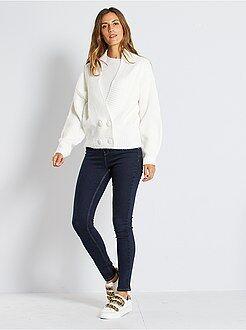 Jean skinny taille haute longueur US 30 - Kiabi