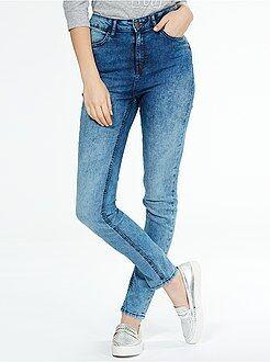 Femme du 34 au 48 Jean skinny taille haute longueur US 32