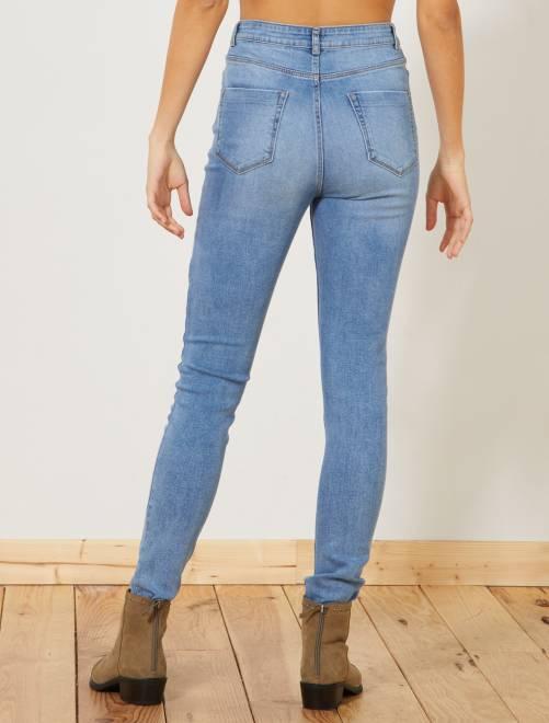 ac8398a2ea4167 Jean skinny taille haute longueur US 32 Femme - double stone - Kiabi ...