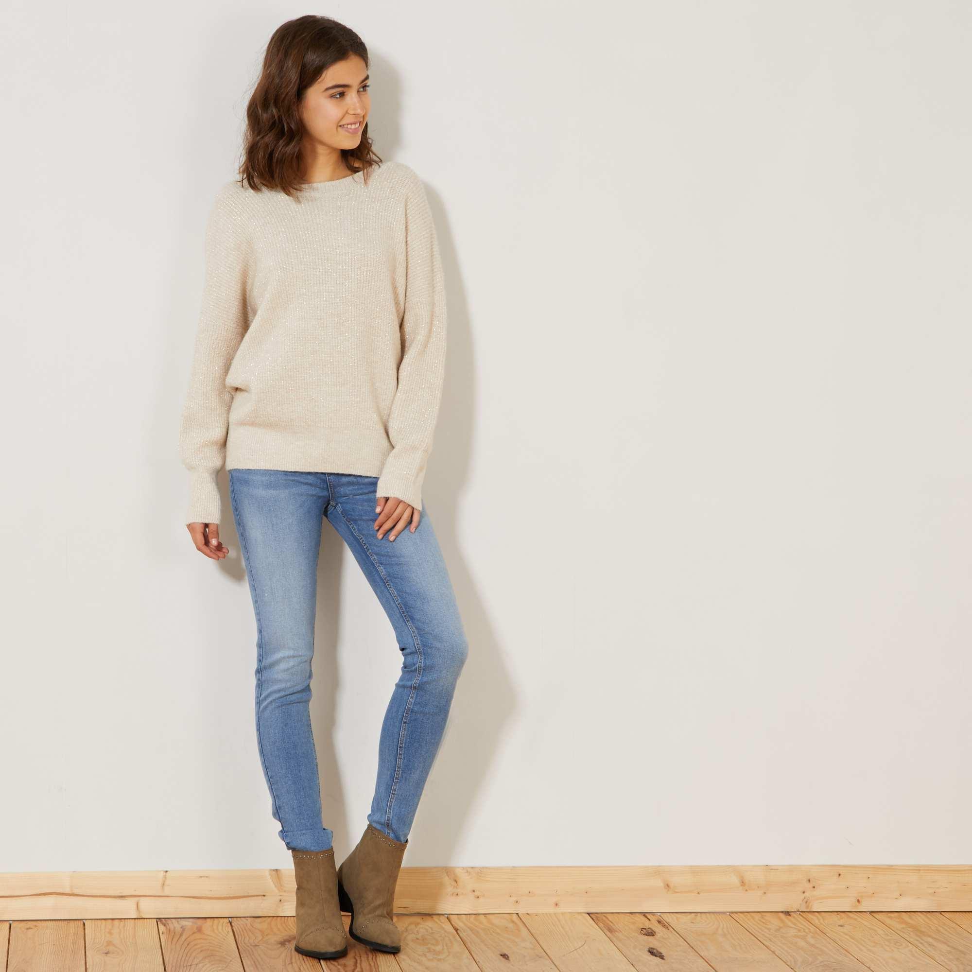 jean skinny taille haute longueur us 32 femme double stone kiabi 15 00. Black Bedroom Furniture Sets. Home Design Ideas