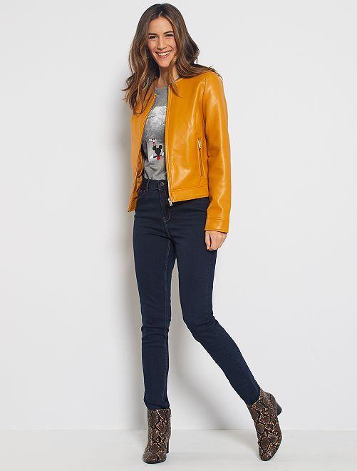 Jean skinny taille haute longueur US 32 éco-conçu                                                     bleu rince