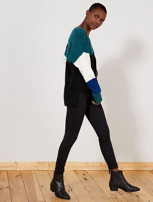 Jean skinny taille haute longueur US 32                                                                 noir Femme
