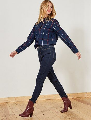 Femme du 34 au 48 - Jean skinny taille haute longueur US 32 - Kiabi