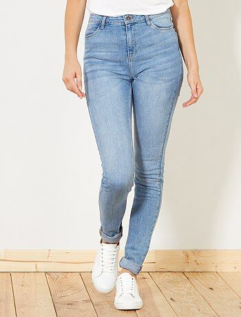 Femme du 34 au 48 - Jean skinny taille haute longueur US 34 - Kiabi