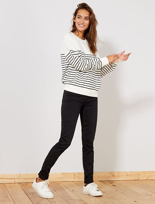 Jean skinny taille haute longueur US 34                                                                 noir Femme