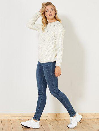 Jean skinny taille haute longueur US 34 - Kiabi