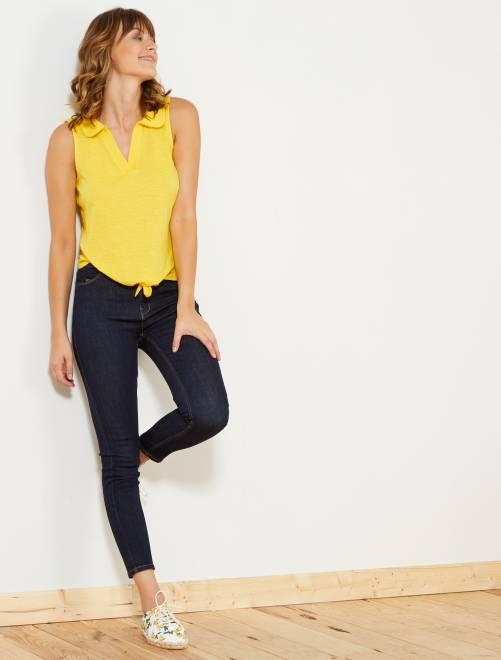 Jean skinny taille haute longueur US28                                 brut