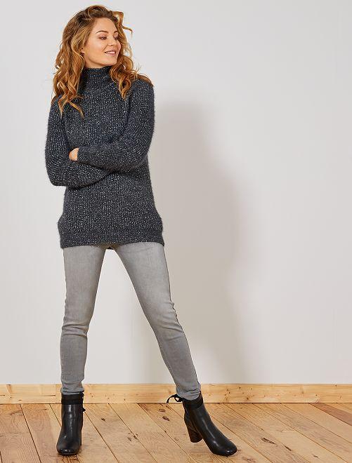 Jean skinny taille haute longueur US28                                                     gris clair