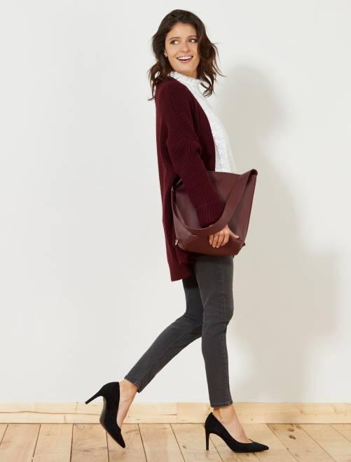 Jean skinny taille haute longueur US28                                                     gris