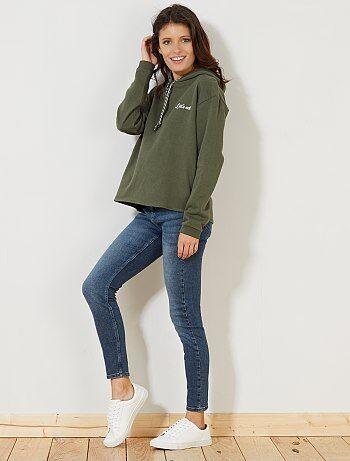 Jean skinny taille haute longueur US28 - Kiabi