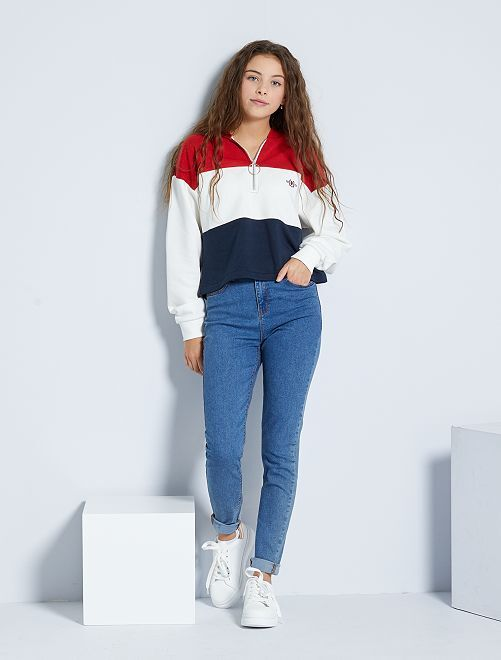 Jean skinny taille haute                                                                                                     stone