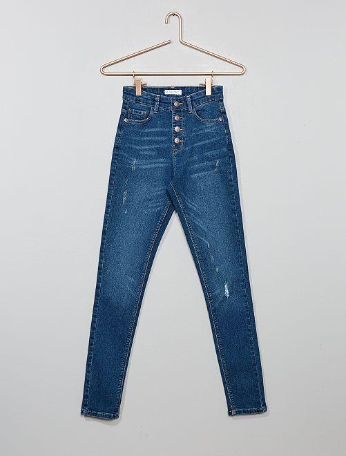 Jean skinny taille haute                                                                 stone Fille adolescente