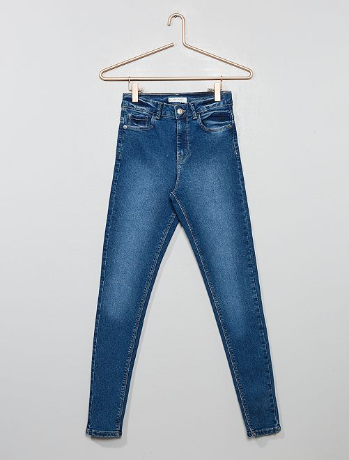 Jean skinny taille haute                                                                             stone washed