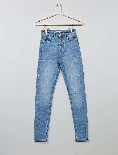 Jean skinny taille haute                                                                 triple stone Fille adolescente