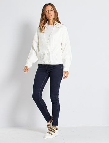 Jean skinny taille très haute longueur US 30                                             rinse Femme