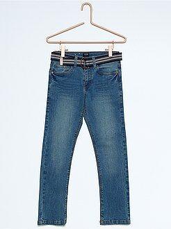 Jean slim + ceinture