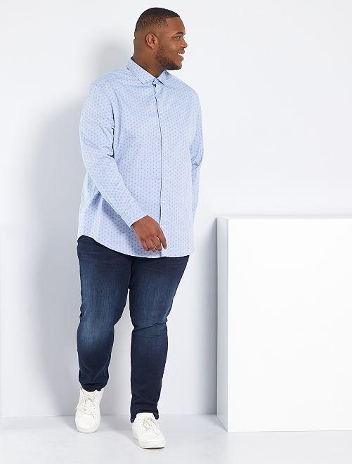 Jean slim coton stretch L32                                                                             bleu indigo