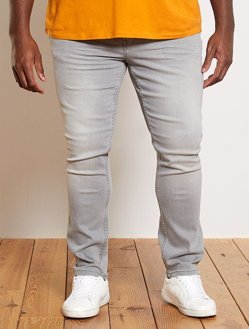 Jean slim coton stretch L32                                                                             gris clair