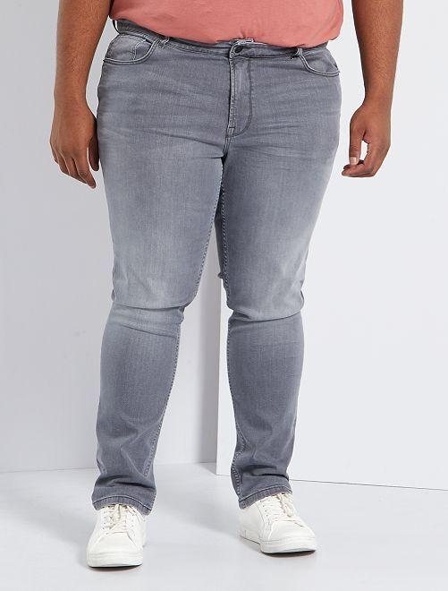 Jean slim coton stretch L32                                                                             gris