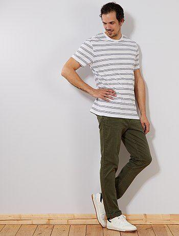 Homme du S au XXL - Jean slim couleur L36 +1m90 - Kiabi