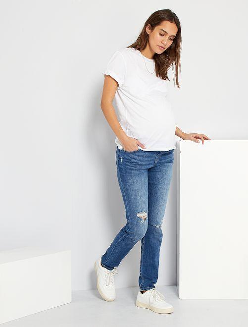Jean slim de maternité L30                                                                 BLEU