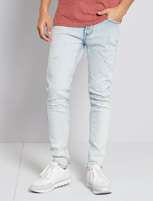 Jean slim destroy                             bleached