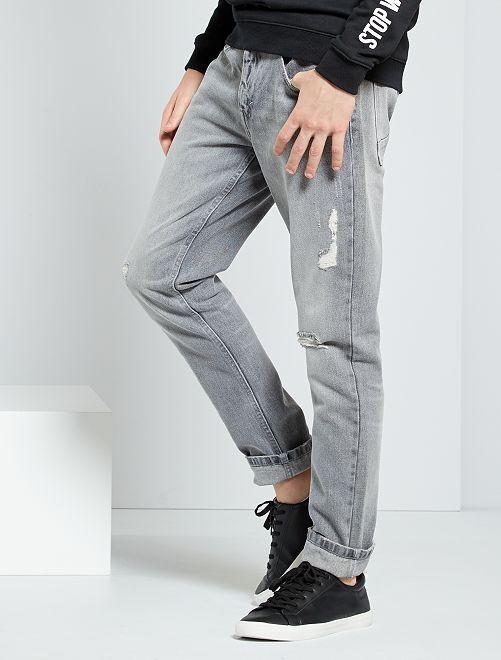 Jean slim destroy                                 gris clair
