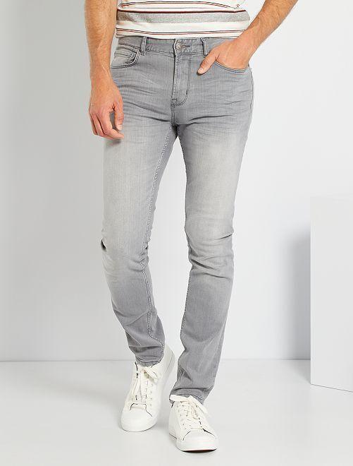 Jean slim éco-conçu L34                                                                                         gris clair