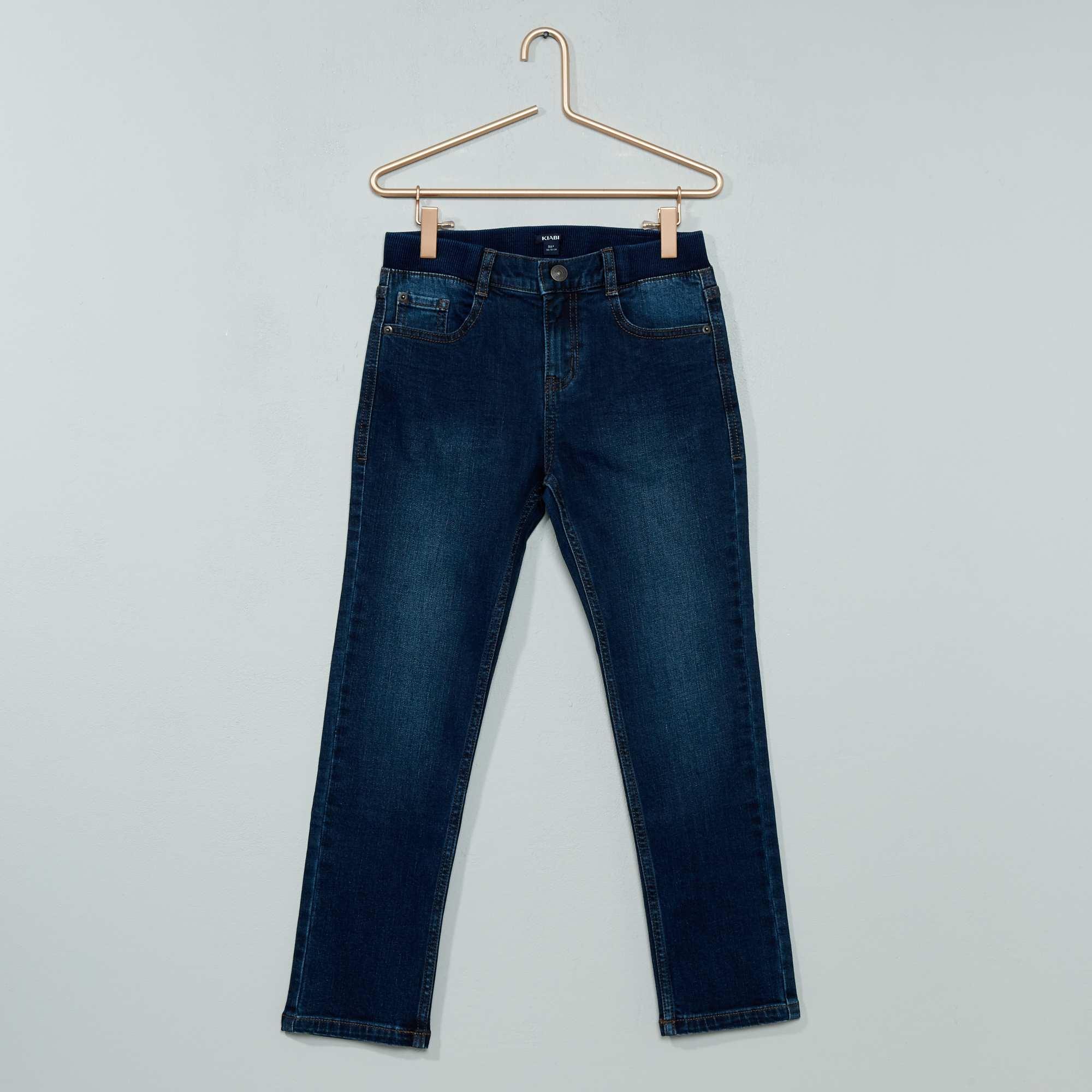 Couleur : brut, bleu stone, ,, - Taille : 10+A, 8+A, 12+A,,La taille élastiquée de ce jean s'adapte parfaitement à sa silhouette ! - Jean slim