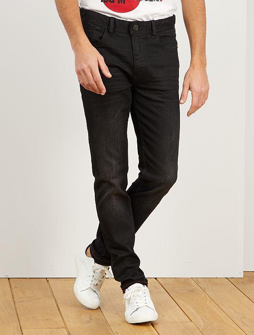 Jean slim effet plissé                             noir