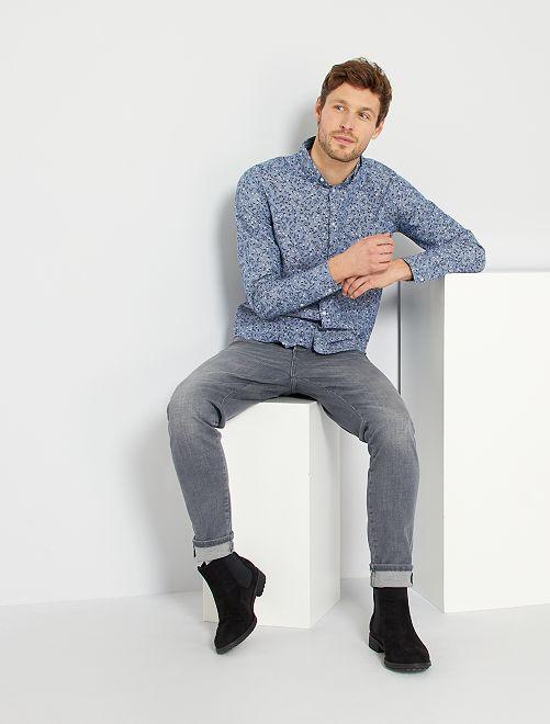 Jean slim en coton stretch éco-conçu                             gris