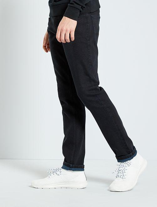 Jean slim en coton stretch                                         noir