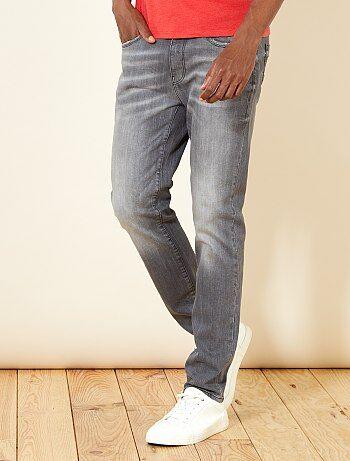 Homme du S au XXL - Jean slim gris - Kiabi