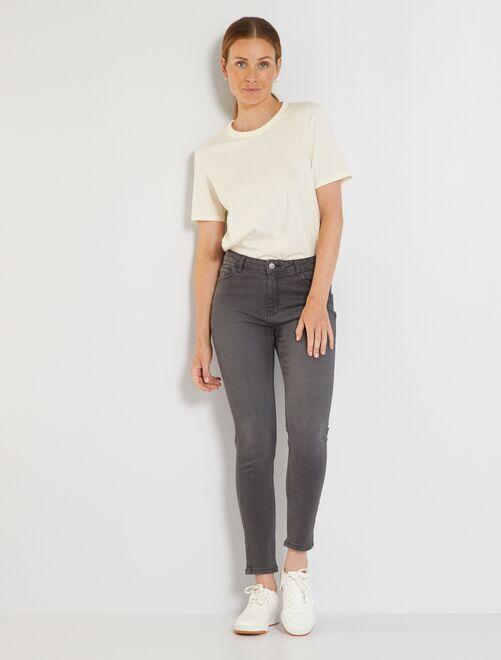 Jean slim L32 éco-conçu                                                                                         gris foncé