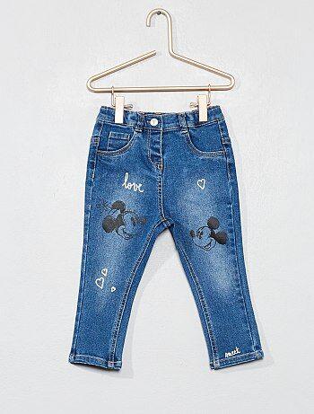 662584adf5412 Jean slim  Minnie et Mickey  - Kiabi