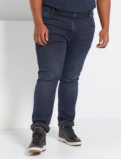 Jean slim stretch                             bleu/noir