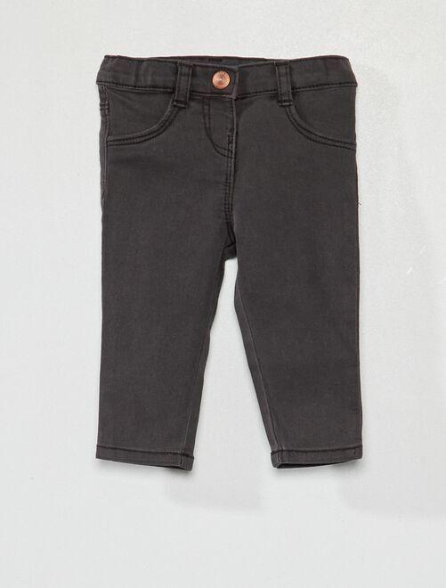 Jean slim stretch éco-conçu                                         noir
