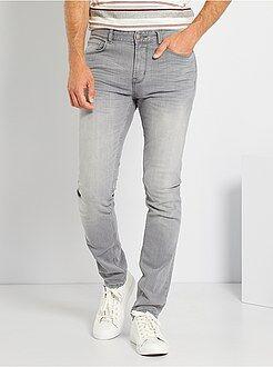 soldes jeans slim pantalon denim mode homme kiabi. Black Bedroom Furniture Sets. Home Design Ideas