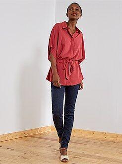 Femme du 34 au 48 Jean slim super taille haute - Longueur US 30
