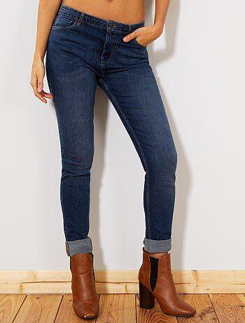jean slim super taille haute longueur us32 femme kiabi 15 00. Black Bedroom Furniture Sets. Home Design Ideas