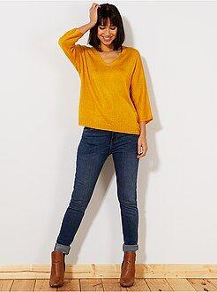 Femme du 34 au 48 Jean slim super taille haute - Longueur US32
