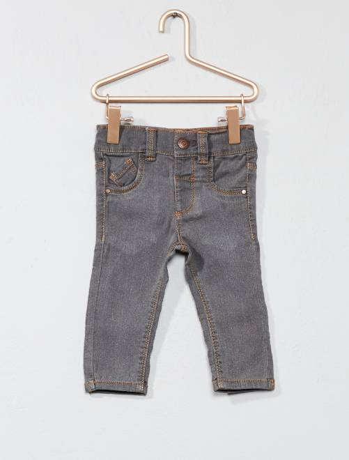 Jean slim taille ajustable                                         GRIS