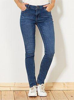 Jean slim - Jean slim taille haute - Longueur US 30 - Kiabi