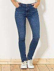Jean slim taille haute - Longueur US 30