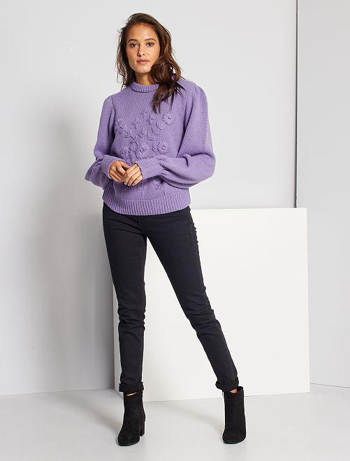 cintura para Pantalones de mujer alta delgados BeorQxCdW