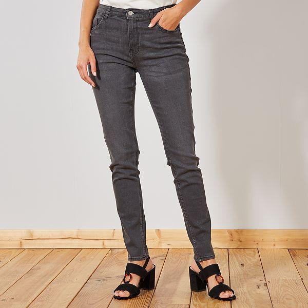 Jean slim taille haute Longueur US 30