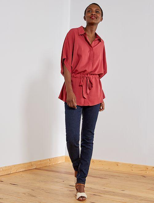 Jean slim taille haute - Longueur US 30                                                                     rince Femme