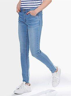 Femme du 34 au 48 Jean slim taille haute - Longueur US 30