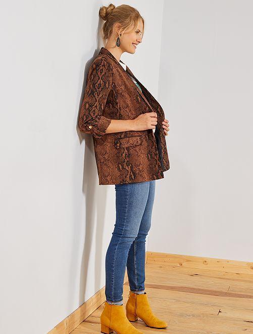 Jean slim taille haute 'éco-conception'                                         stone Femme