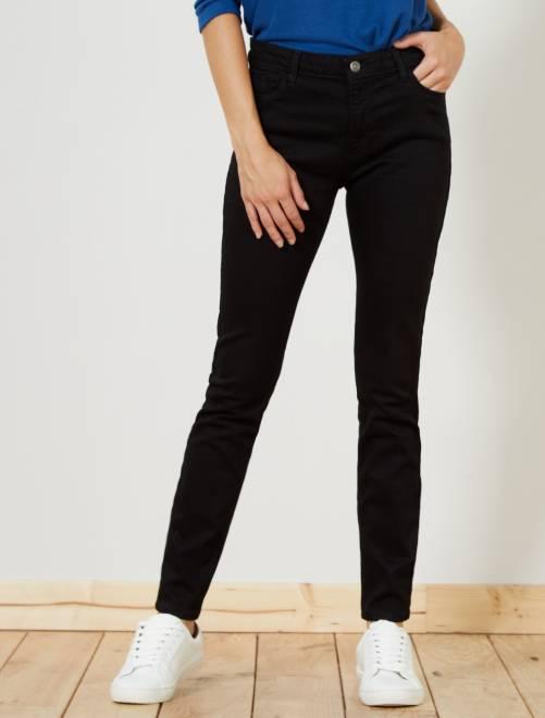 Jean slim taille haute longueur US28                                                                             denim black Femme